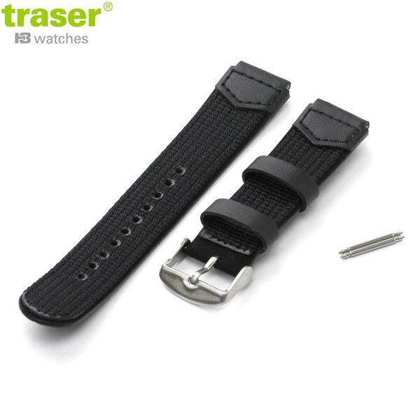 トレーサー 交換用ベルト 腕時計 TYPE3用 19mm ブラック traser 9031706