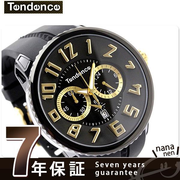 テンデンス ガリバー ラウンド クロノグラフ TG460011 TENDENCE 腕時計 クオーツ ブラック 時計