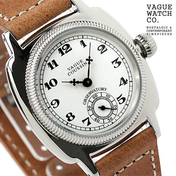 ヴァーグウォッチ 腕時計 クッサン メンズ スモールセコンド クッサン ホワイト×ブラウン レザーベルト VAGUE VAGUE WATCH 腕時計 Co. CO-L-001 時計, 朝日薬業:aca1aeb9 --- m2cweb.com