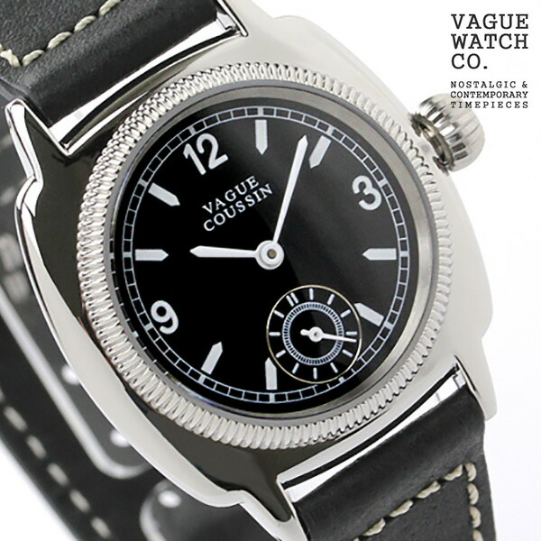ヴァーグウォッチ 腕時計 メンズ スモールセコンド クッサン ブラック レザーベルト VAGUE WATCH Co. CO-L-005 時計