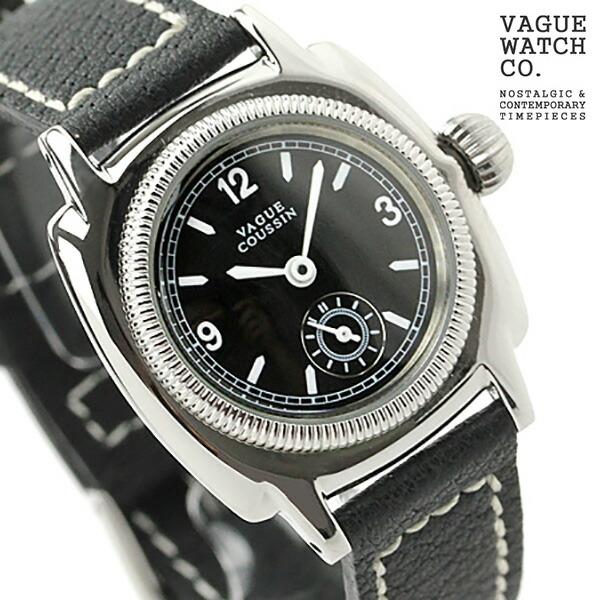 ヴァーグウォッチ 腕時計 レディース スモールセコンド クッサン ブラック レザーベルト VAGUE WATCH Co. CO-S-005 時計