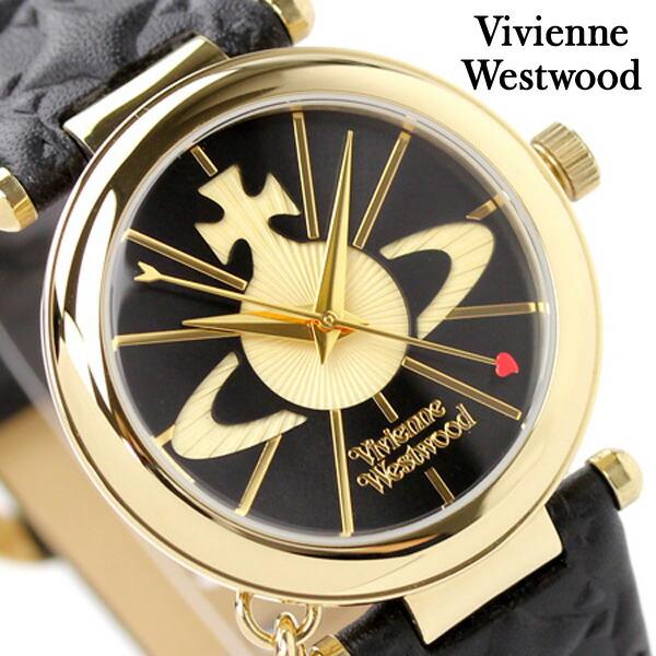 ヴィヴィアン・ウエストウッド 腕時計 レディース オーブ ブラック×ゴールド Vivienne Westwood VV006BKGD 時計