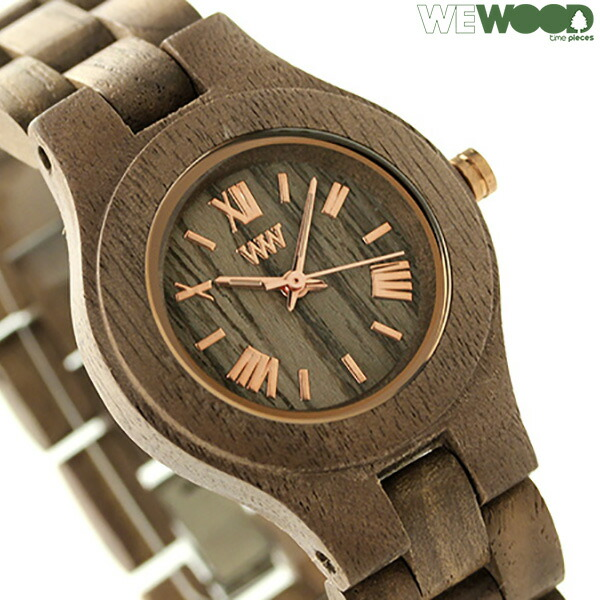 ウィーウッド クリス クオーツ 木製 腕時計 9818034 WEWOOD ナット 時計【あす楽対応】