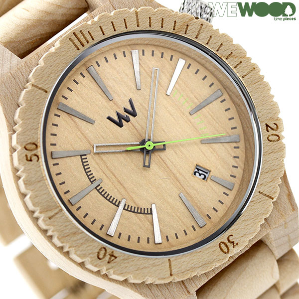 ウィーウッド クオーツ 木製 腕時計 9818049 WEWOOD ベージュ 時計