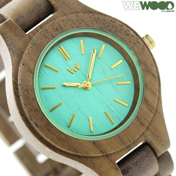 店内ポイント最大43倍!16日1時59分まで! ウィーウッド アンテア クオーツ 木製 腕時計 9818079 WEWOOD ミント×ナット 時計