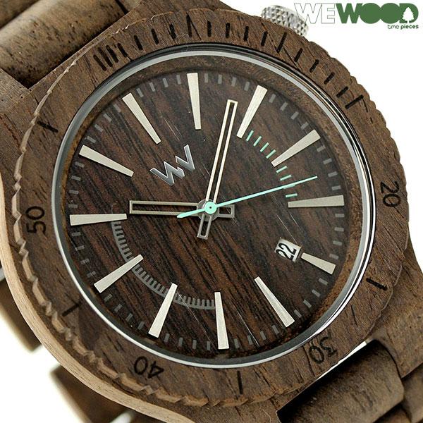ウィーウッド アサント クオーツ 木製 ユニセックス 腕時計 9818086 WEWOOD チョコ 時計