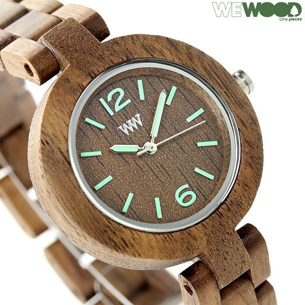ウィーウッド ミモザ クオーツ 木製 レディース 腕時計 9818089 WEWOOD ナット 時計