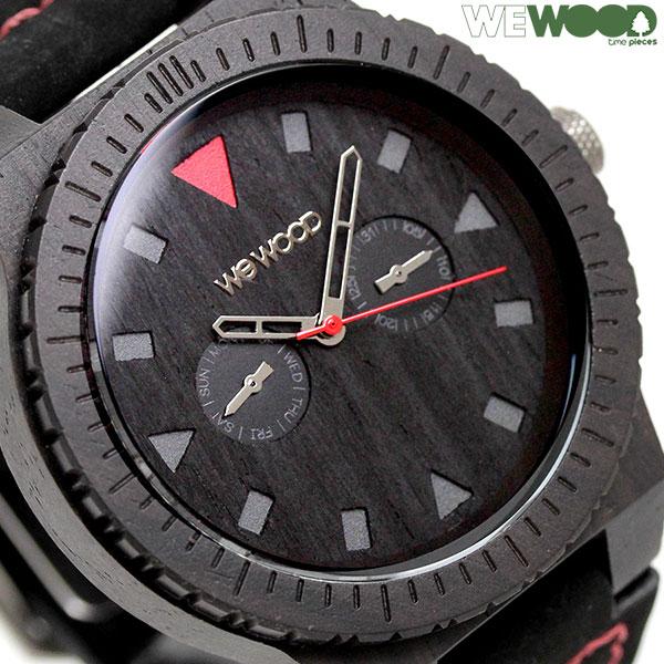 ウィーウッド レオ クオーツ 腕時計 9818094 WEWOOD ブラック 時計