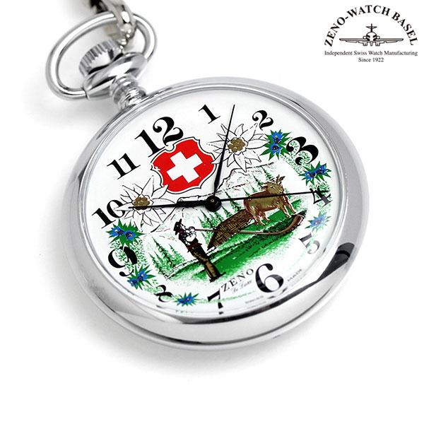 ZENO WATCH ゼノウォッチ 懐中時計 クオーツ ZT-2350 ホワイト 時計