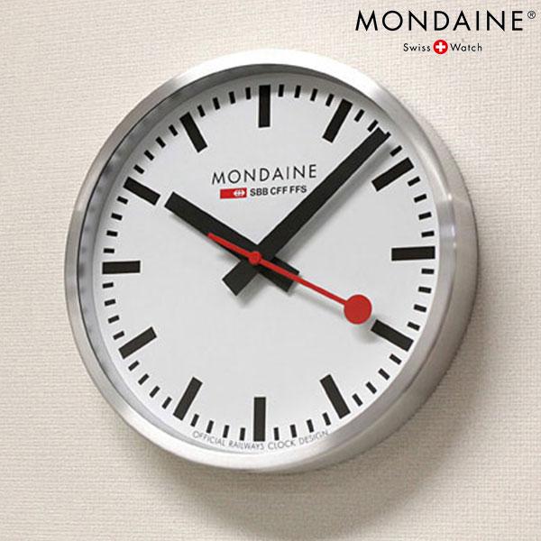 モンディーン 掛時計 ウォールクロック 250mm ホワイト MONDAINE A990.CLOCK.16SBB 時計, プラスイン:d78455c6 --- flets116.jp