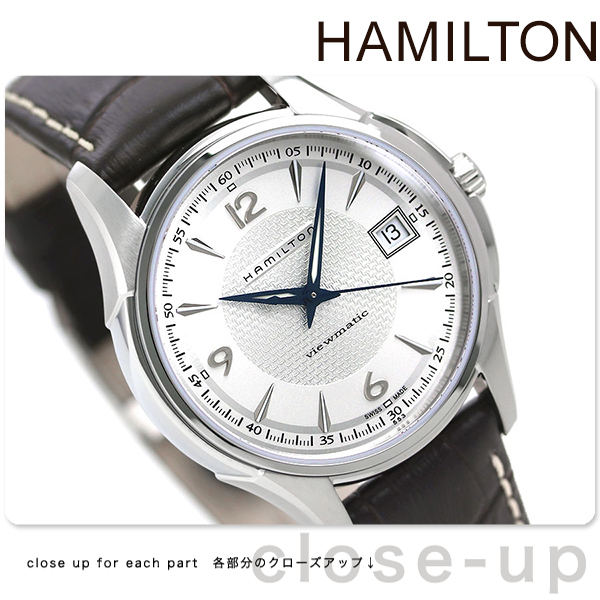 half off 1c317 d6b58 Automatic winding Hamilton jazzmaster viewmatic H32455557 HAMILTON watch  Jazzmaster Viewmatic leather silver