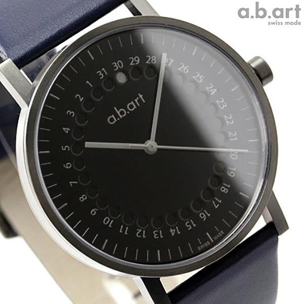 a.b.art エービーアート 腕時計 ドットカレンダ O Series O202 ブラック 時計