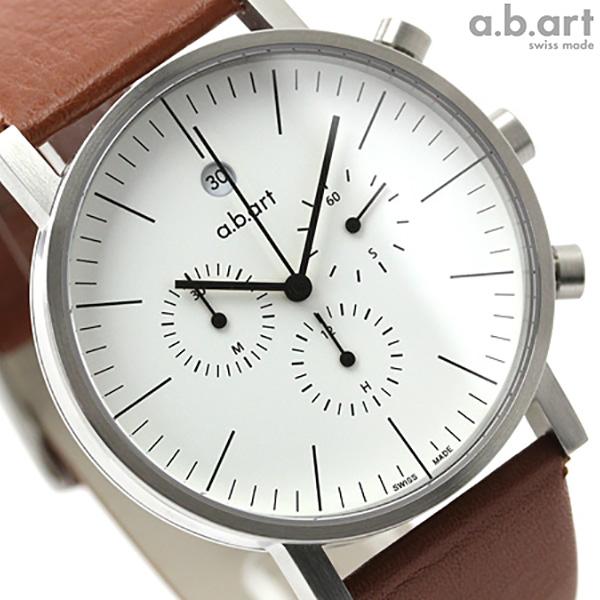 a.b.art エービーアート 腕時計 クロノグラフ OC Series OC101 ホワイト 時計【あす楽対応】