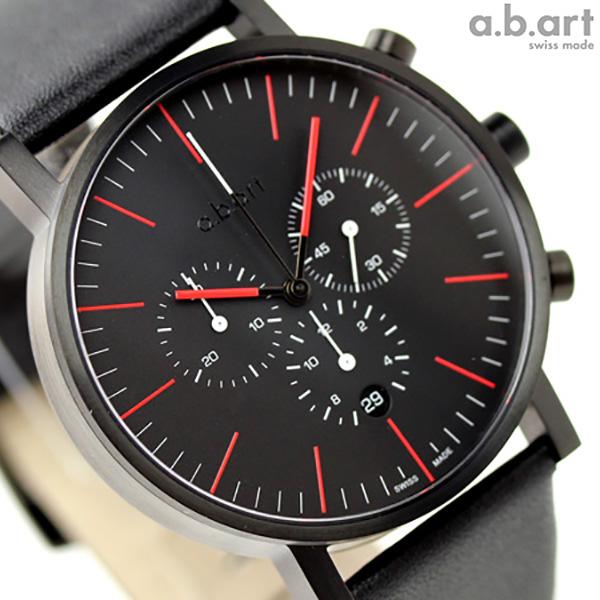 a.b.art エービーアート 腕時計 クロノグラフ OC Series OC150 ブラック×レッド 時計