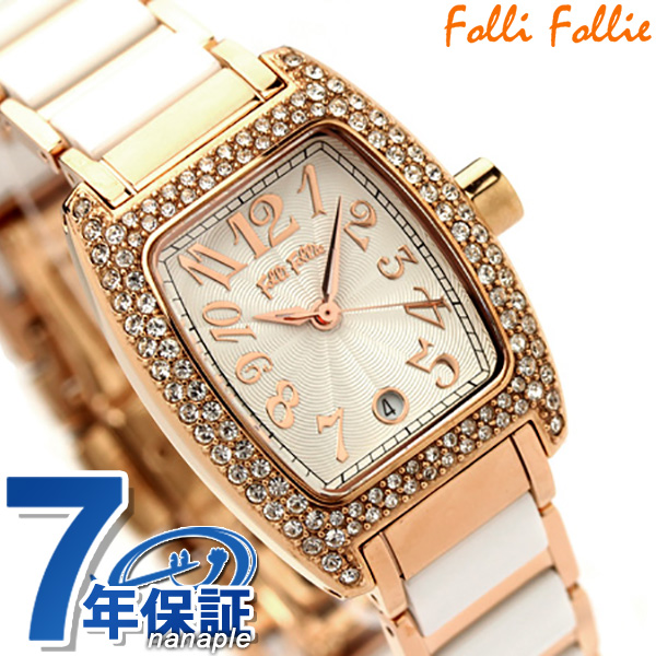 Folli Follie フォリフォリ 腕時計 レディース セラミック ジルコニア シルバー×ピンクゴールド WF5R135BDS 時計