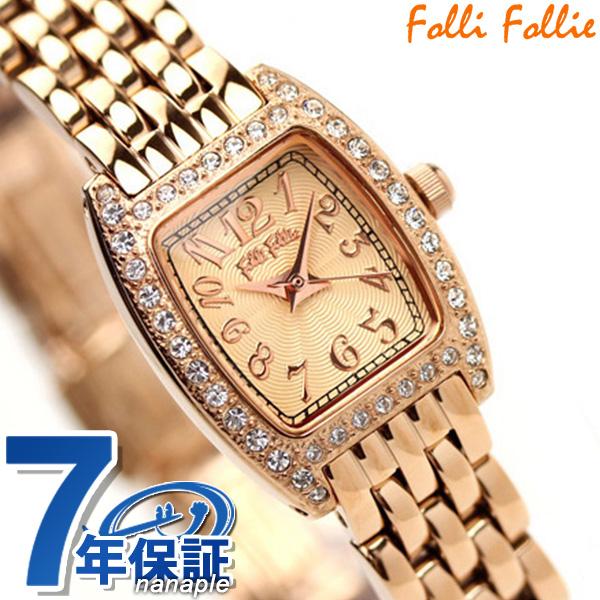 フォリフォリ Folli Follie 腕時計 レディース ジルコニア ピンクゴールド WF5R142BPP 時計