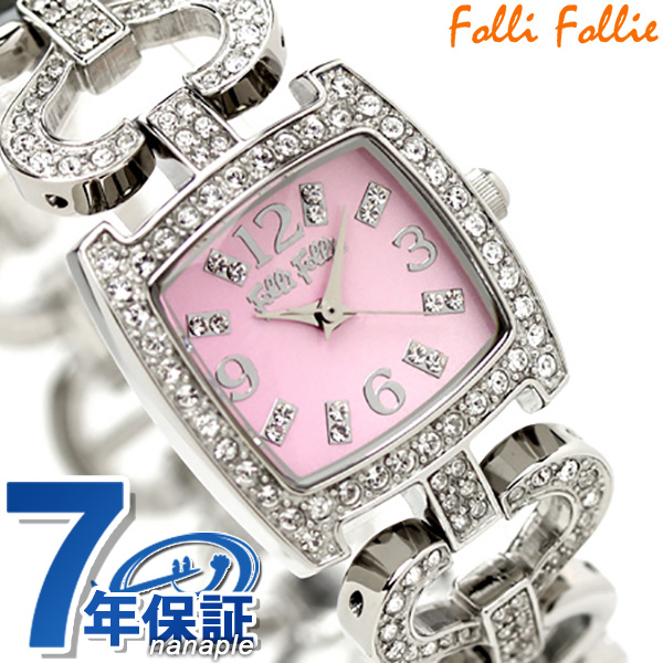 フォリフォリ Folli Follie 腕時計 レディース ジルコニア ピンク WF5T120BPP 時計