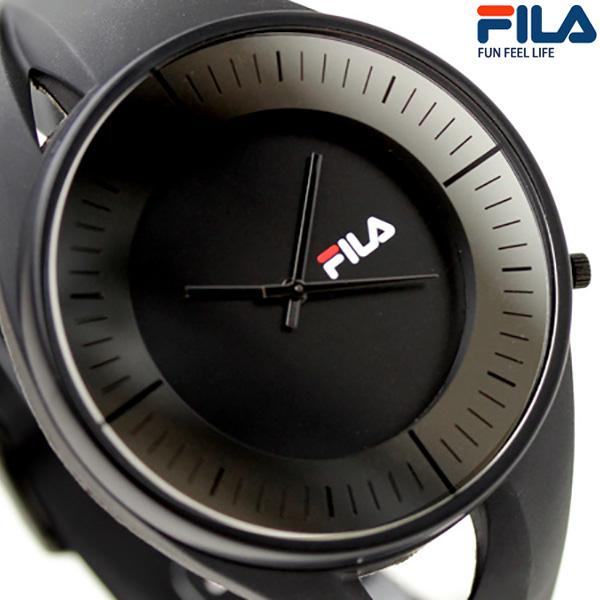 38b57b218ee5 nanaple  Fila FILA watch men analog black FCA006-4 clock
