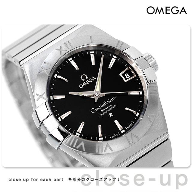オメガ 腕時計 自動巻き コンステレーション クロノメーター 38MM メンズ ブラック OMEGA 123.10.38.21.01.001 新品 時計【あす楽対応】