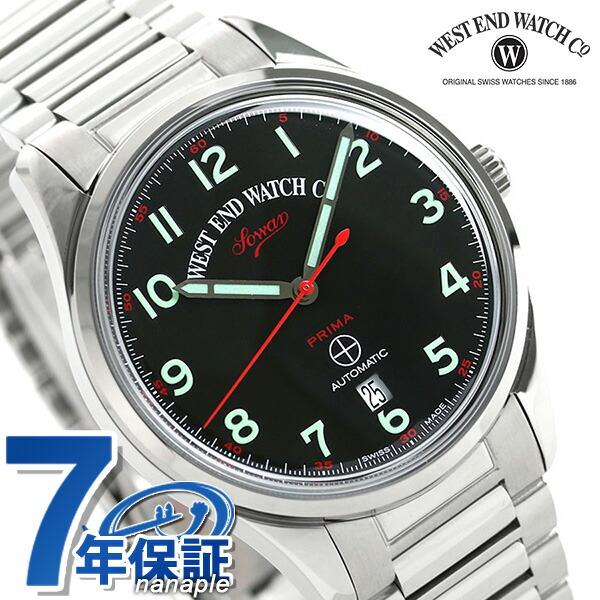 WEST END ウエストエンド ソワール プリマ 39mm スイス製 自動巻き メンズ 腕時計 WE.PR.39.AR.BK.B ブラック