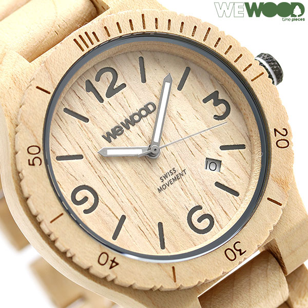 ウィーウッド アルファ SW 木製 腕時計 9818142 WEWOOD ベージュ 時計