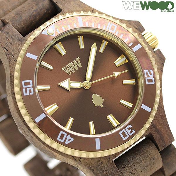 ウィーウッド デイト 木製 腕時計 9818151 WE WOOD ブラウン 時計