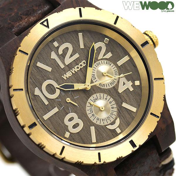 ウィーウッド カード エムビー 47mm 木製 腕時計 9818155 WEWOOD チョコ ゴールド 時計