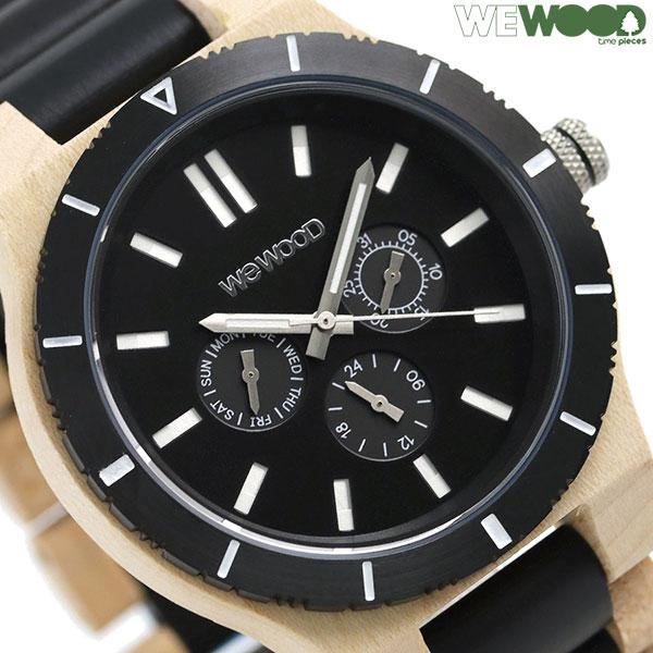 ウィーウッド カッパ MB ベージュ ブラック 木製 腕時計 9818165 WEWOOD 時計