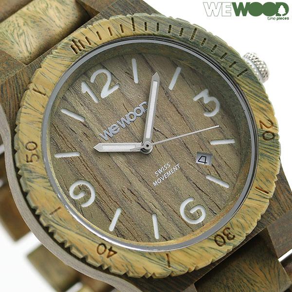 ウィーウッド 木製 天然木 46mm メンズ 腕時計 9818182 WE WOOD ALPHA SW ARMY 時計