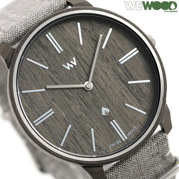 ウィーウッド ロス 42mm クオーツ 木製 リネンベルト メンズ 腕時計 9818191 WEWOOD ナット 時計