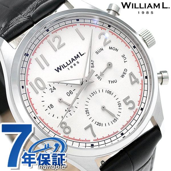ウィリアムエル ヴィンテージ カレンダー メンズ 腕時計 WLAC03BOCN WILLIAM L ホワイト 時計【あす楽対応】