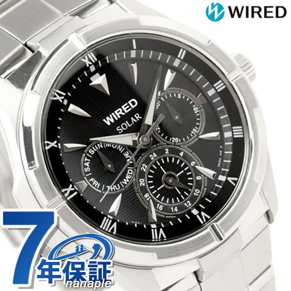 セイコー ワイアード SEIKO WIRED ソーラー メンズ 腕時計 AGAD032 ブラック 時計