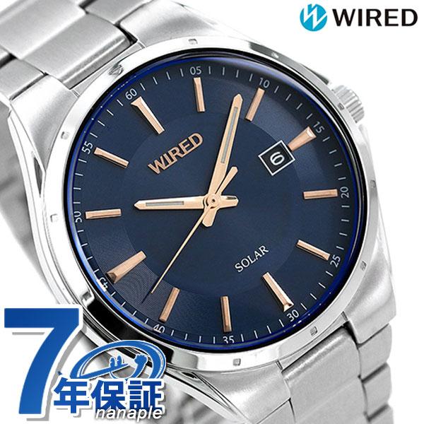 セイコー ワイアード SEIKO WIRED ソーラー メンズ 腕時計 AGAD401 ニュースタンダード ネイビー 時計【あす楽対応】