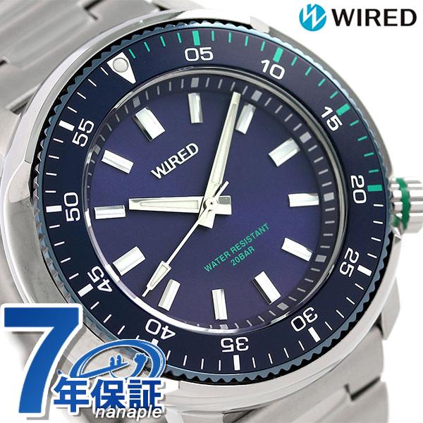 店内ポイント最大43倍!16日1時59分まで! セイコー ワイアード SEIKO WIRED メンズ 腕時計 AGAJ405 ソリディティ ネイビー 時計