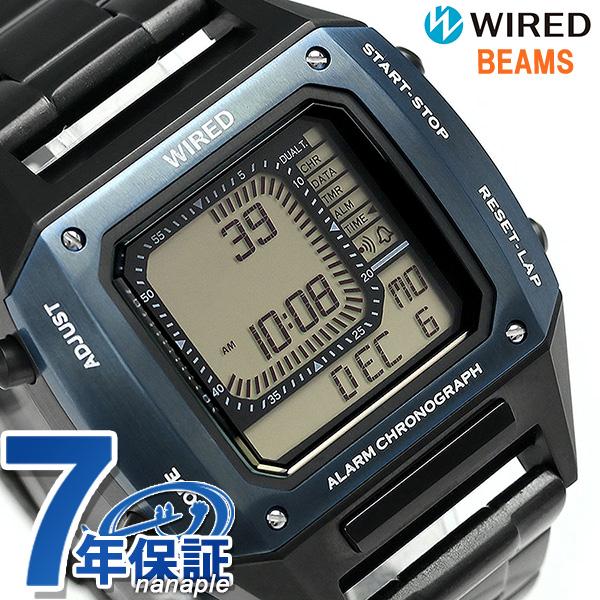セイコー ワイアード 限定モデル BEAMS デジタルクロノグラフ メンズ 腕時計 AGAM701 ソリディティ