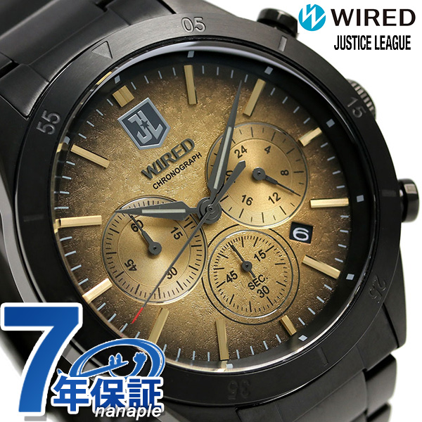 セイコー ワイアード ジャスティスリーグ 限定モデル AGAT717 SEIKO WIRED 腕時計 ゴールド 時計