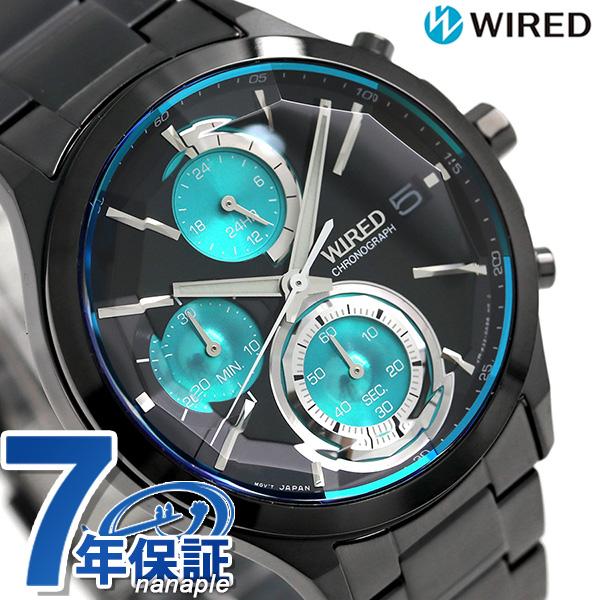 セイコー ワイアード ニューリフレクション クロノグラフ AGAV121 SEIKO WIRED 腕時計 オールブラック 時計