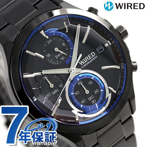セイコー ワイアード SEIKO クロノグラフ メンズ 腕時計 AGAV122 ニューリフレクション オールブラック