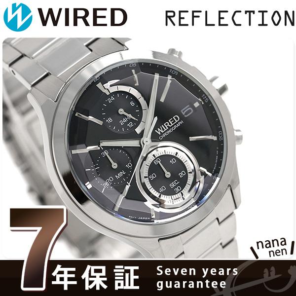 セイコー ワイアード ニューリフレクション クロノグラフ AGAV123 SEIKO WIRED 腕時計 ブラック 時計
