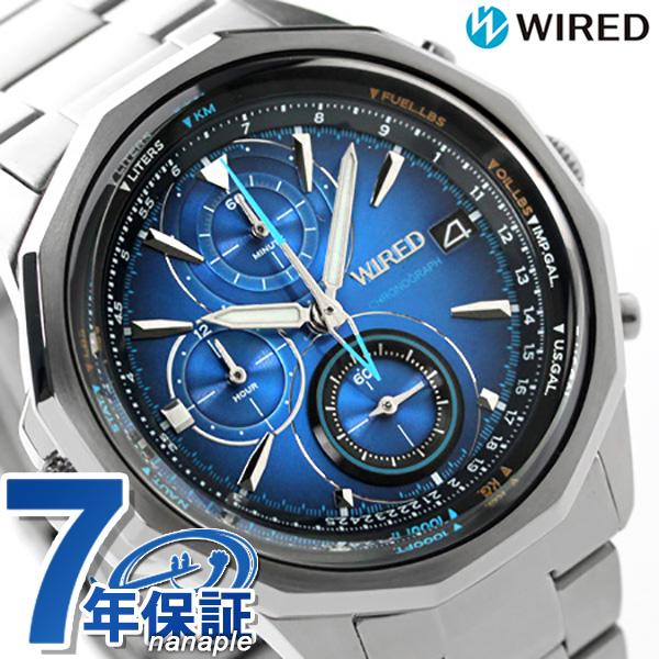 セイコー ワイアード ザ・ブルー クロノグラフ メンズ AGAW439 SEIKO WIRED 腕時計 メタリックブルー 時計【あす楽対応】