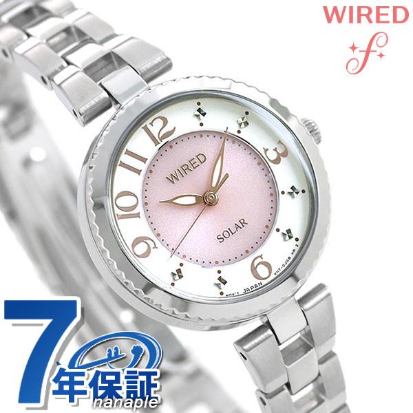 セイコー ワイアード エフ SEIKO WIRED f ソーラー レディース 腕時計 AGED085 ピンク×アイボリー