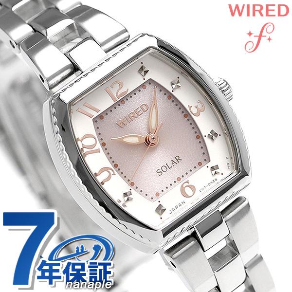 セイコー ワイアード エフ SEIKO WIRED f ソーラー レディース 腕時計 AGED088 ピンク×アイボリー