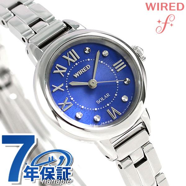 店内ポイント最大43倍!16日1時59分まで! セイコー ワイアード エフ SEIKO WIRED f ソーラー レディース 腕時計 AGED096 ブルー 時計
