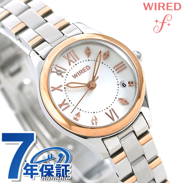 店内ポイント最大43倍!16日1時59分まで! セイコー ワイアード エフ SEIKO WIRED f レディース 腕時計 AGEK422 ホワイト 時計【あす楽対応】