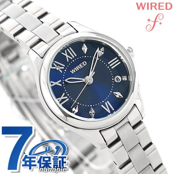 セイコー ワイアード エフ ペアスタイル レディース 腕時計 AGEK423 SEIKO WIRED f ネイビー 時計