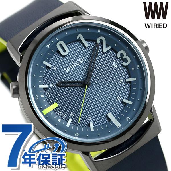 セイコー ワイアード WW ツーダブ Bluetooth メンズ レディース 腕時計 AGAB408 SEIKO WIRED TYPE 02 ネイビー 革ベルト 時計【あす楽対応】