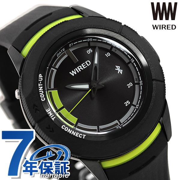 セイコー ワイアード WW ツーダブ Bluetooth メンズ 腕時計 AGAB415 SEIKO WIRED オールブラック 黒 時計【あす楽対応】
