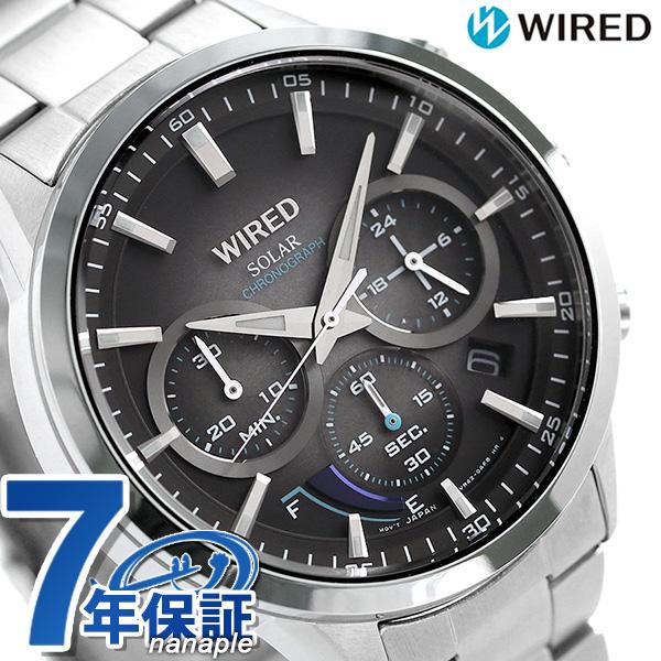 セイコー ワイアード SEIKO WIRED クロノグラフ ソーラー メンズ 腕時計 AGAD095 トウキョウ ソラ