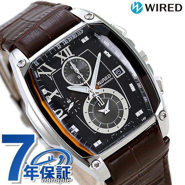 セイコー ワイアード SEIKO WIRED クロノグラフ メンズ 腕時計 AGAV039 リフレクション ブラウン