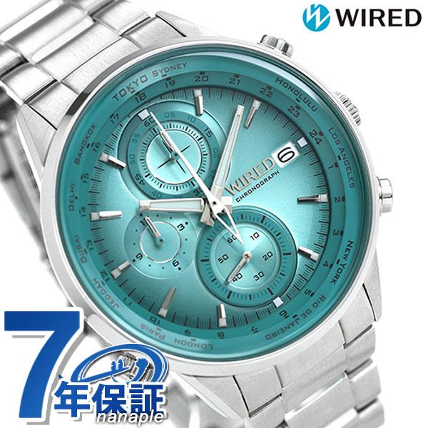 セイコー ワイアード SEIKO WIRED クロノグラフ メンズ 腕時計 AGAW451 トウキョウ ソラ グリーン【あす楽対応】